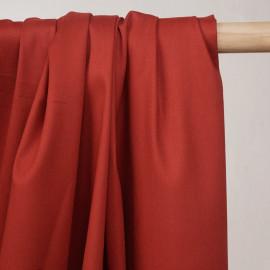 Tissu denim chino rouge de pompei - pretty mercerie - mercerie en ligne