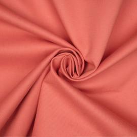 Tissu denim chino corail épicé x 10cm