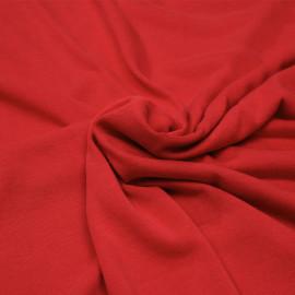 Tissu jersey cupro rouge x 10cm