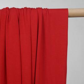 Tissu jersey cupro rouge  - pretty mercerie - mercerie en ligne