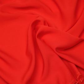 Tissu proviscose rouge poppy x 10 cm