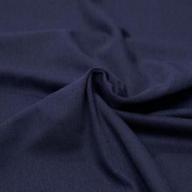 Tissu polo maille piquée bleu marine x 10cm