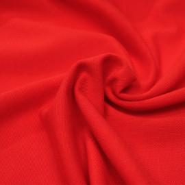 Tissu polo maille piquée rouge poppy x 10cm