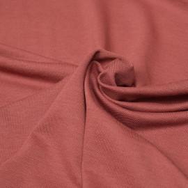 Tissu polo maille piquée dusty cedar x 10cm