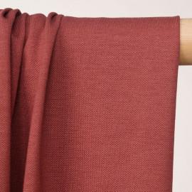 Tissu polo maille piquée dusty cedar  - pretty mercerie - mercerie en ligne