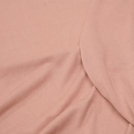 Tissu jersey cupro rose misty x 10cm