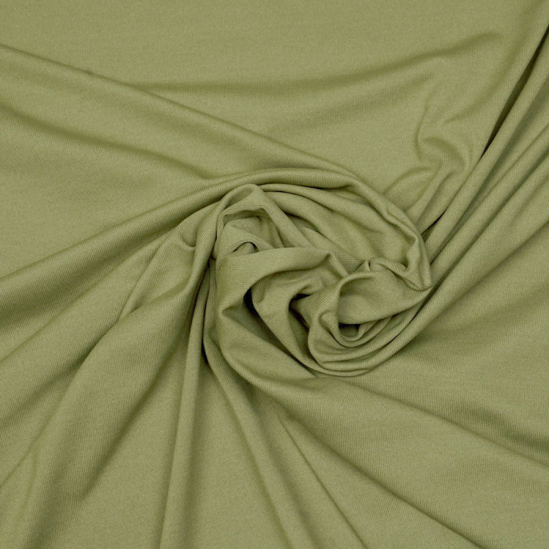 Tissu maillot de bain vert boa matte  - pretty mercerie - mercerie en ligne