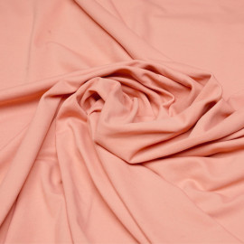 Tissu maillot de bain corail amande matte x 10cm