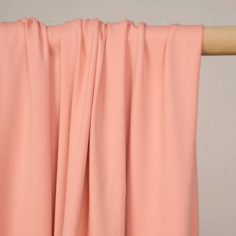 Tissu maillot de bain corail amande matte - pretty mercerie - mercerie en ligne