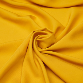 Tissu proviscose jaune minéral x 10 cm