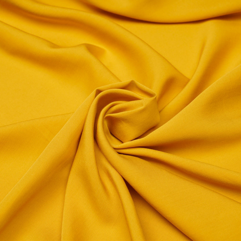 Tissu proviscose jaune minéral  - pretty mercerie - mercerie en ligne