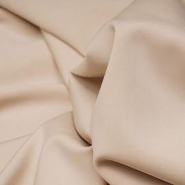 Tissu maille effet Néoprène beige - pretty mercerie - mercerie en ligne