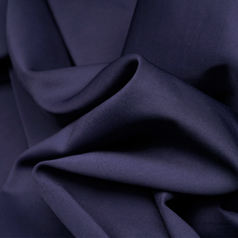 Tissu maille effet Néoprène bleu patriote - pretty mercerie - mercerie en ligne