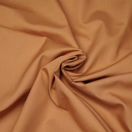 Tissu popeline de coton amande x 10cm