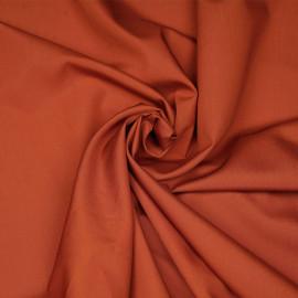 Tissu popeline de coton brique- pretty mercerie - mercerie en ligne