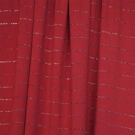 Tissu maillot de bain chili pepper rayé lurex argent - pretty mercerie - mercerie en ligne