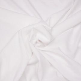 Tissu viscose blanche  x 10 cm