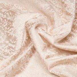 Tissu jacquard à motif abstraits blanc et lurex cuivre x 10 CM