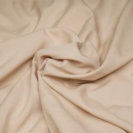 Tissu viscose ivoire x 10 cm