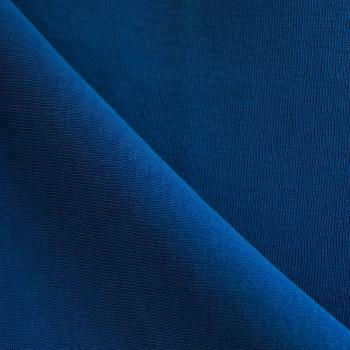 Tissu sweat bleu cobalt