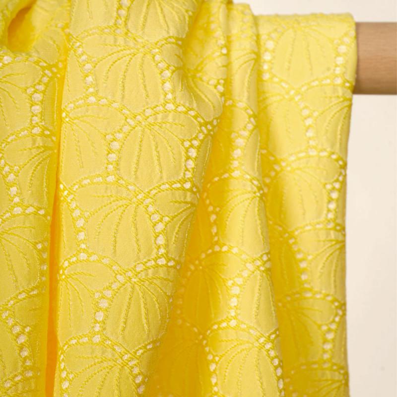 Tissu jacquard limelight à motif tulipes abstraites - pretty mercerie - mercerie en ligne