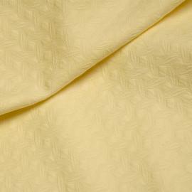 Tissu jacquard jaune pastel à motif géométrique x 10 CM