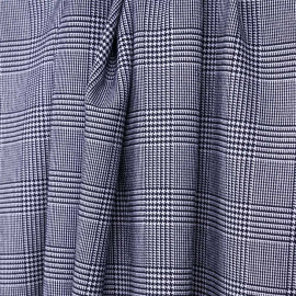 Tissu Prince de Galles bleu marine et blanc - pretty mercerie - mercerie en ligne
