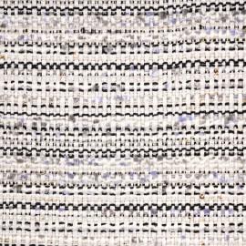 Tissu tweed blanc cassé, noir, lavande et lurex or - pretty mercerie - mercerie en ligne