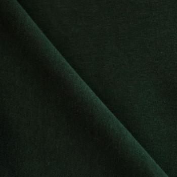 Tissu sweat vert chasseur x 10cm