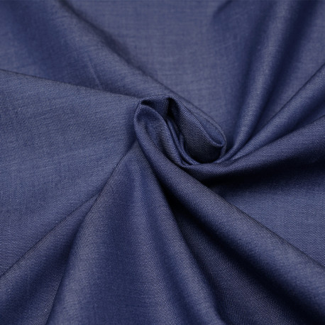 Tissu coton effet denim bleu indigo - pretty mercerie - mercerie en ligne