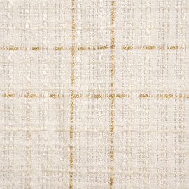 Tissu tweed blanc cassé et lurex or - pretty mercerie - mercerie en ligne