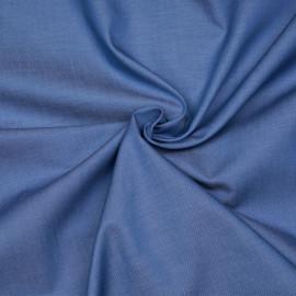 Tissu coton effet denim bleu marina X 10 CM