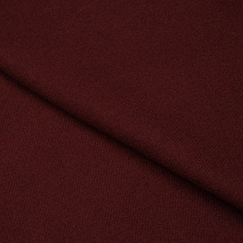Tissu drap de laine lie de vin sergé x 10cm