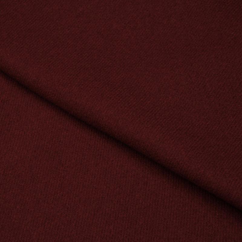 Tissu Drap De Laine Lie De Vin Serge Pour Couture De Manteaux Haut De Gamme