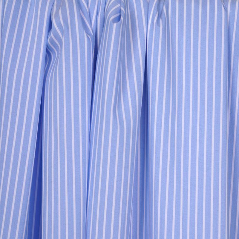 Tissu coton raye bleu clair et blanc - pretty mercerie - mercerie en ligne