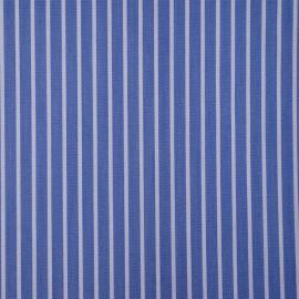 Tissu coton raye blue jean et blanc - pretty mercerie - mercerie en ligne