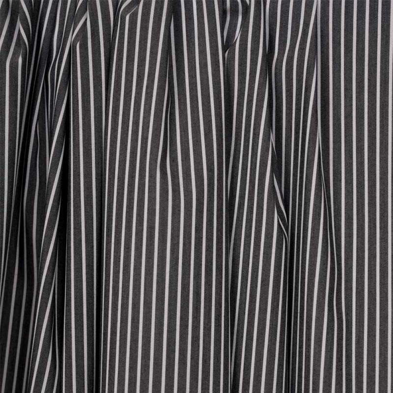 Tissu coton raye gris anthracite et blanc -pretty mercerie - mercerie en ligne