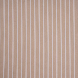 Tissu coton raye beige et blanc- pretty mercerie - mercerie en ligne