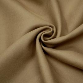 Tissu drap de laine beige sergé x 10cm