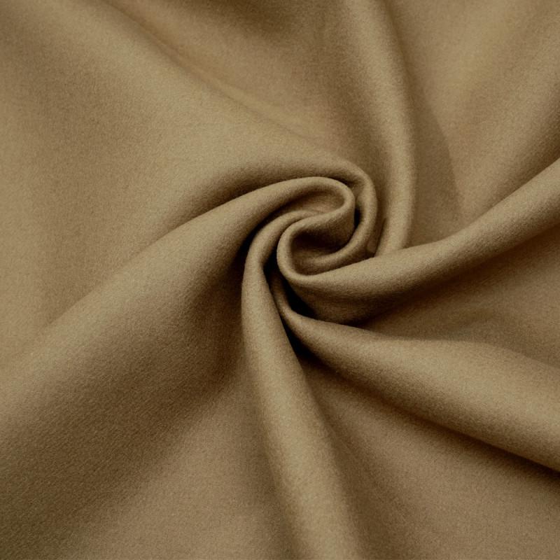 Tissu drap de laine beige sergé - pretty mercerie - mercerie en ligne