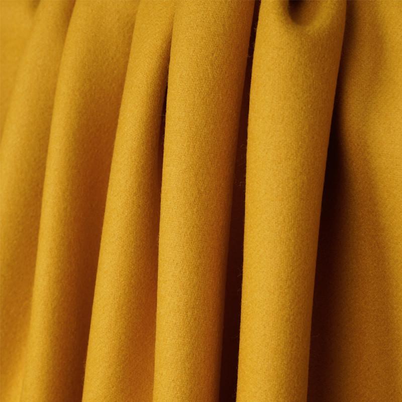 tissu drap de laine moutarde serg pour couture de. Black Bedroom Furniture Sets. Home Design Ideas