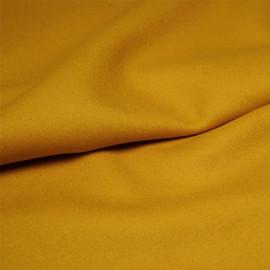 Tissu drap de laine moutarde sergé x 10cm