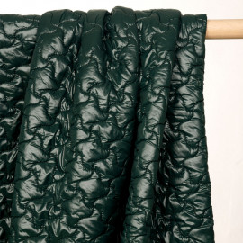 Tissu matelassé doudoune vert jungle - pretty mercerie - mercerie en ligne