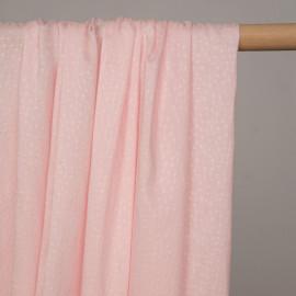 Tissu viscose rose blush à petits points brodés - pretty mercerie - mercerie en ligne
