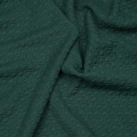Tissu matelassé jersey vert bistro à motif zig zag et pois x 10cm