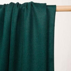 Tissu drap de laine vert émeraude - pretty mercerie - mercerie en ligne