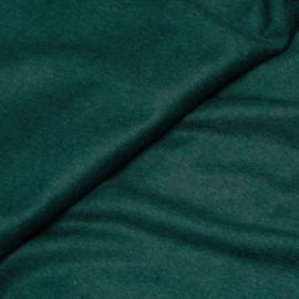 Tissu drap de laine vert émeraude x 10cm