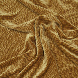 Tissu velours effet froissé miel doré  - pretty mercerie - mercerie en ligne