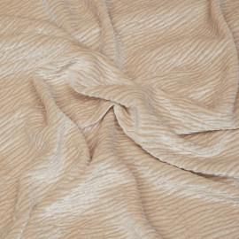 Tissu velours effet froissé rose sun kiss x 10 cm