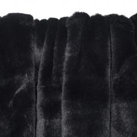 Tissu fausse fourrure noir - pretty mercerie - mercerie en ligne